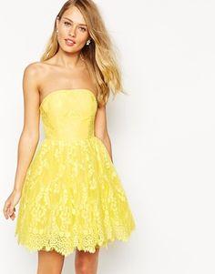 Ginger Fizz Florentine Lace Bandeau Prom Dress