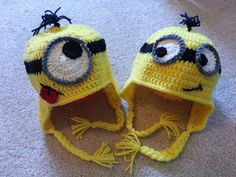 Crochet Yellow Minion Hat by MadebyMagissa on Etsy, $26.00