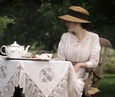 "enchanted-garden: ""Michelle Dockery in Turn of the Screw "" Michelle Dockery, Afternoon Tea Parties, My Cup Of Tea, Vintage Tea, High Tea, Tea Time, Tea Party, Tea Cups, Coffee Cups"