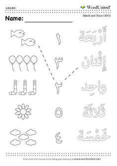 Count in Arabic (1-5).