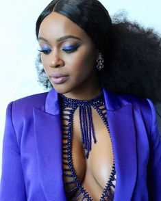 Only Nomzamo Mbatha Could Pull Off This Head to Toe Purple Look