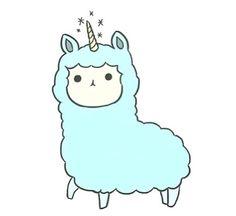 Two of my favorite things lama and unicorn Kawaii Drawings, Cute Drawings, Tumblr Png, Overlays Tumblr, Posters Vintage, M Anime, Llama Alpaca, Tumblr Stickers, Dibujos Cute