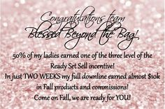 Congratulations girls! Y'all ROCKed the Ready Set Sell incentive!