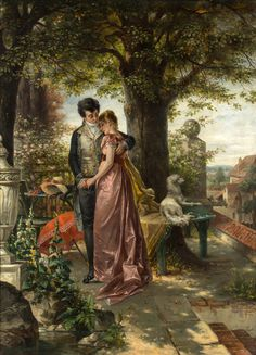 Find images and videos about art, vintage and painting on We Heart It - the app to get lost in what you love. Romantic Paintings, Classic Paintings, Beautiful Paintings, Victorian Paintings, Victorian Art, Molduras Vintage, Art Amour, Tableaux Vivants, Art Ancien