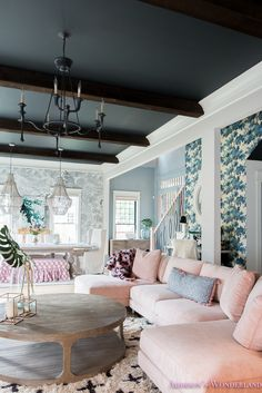"""Our Colorful """"Fresh"""" Vintage Living & Dining Rooms…"""