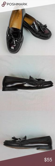 Cole Haan Mens Penny Loafer Dress Shoe Cole Haan Men's Penny Loafer Dress Shoe Burgundy Leather Tassel Size 8 D  Very good shape. A couple of scuffs from light use. See pics for condition.  Size: 8D Cole Haan Shoes Loafers & Slip-Ons