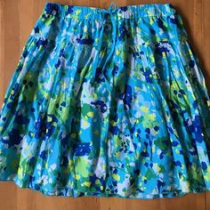 Old Navy Skrit Cotton size large draw string elastic waist like new never worn lined inside Old Navy Skirts Midi