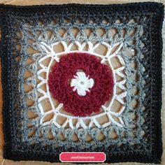 "KalevalaCal 2017 17. ""Nuotiovalkea Mandala, Blanket, Sewing, Crochet, Crafts, Pattern, Grey, Dressmaking, Manualidades"
