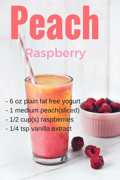 Weight loss smoothies: 15 Healthy Smoothie Recipes for Weight Loss - Cool Web Fun Low Fat Smoothies, Yummy Smoothies, Weight Loss Smoothies, Green Smoothies, Smoothies Healthy Weightloss, Fruit Smoothie Recipes, Raspberry Smoothie, Smoothie Drinks, Raspberry Bars