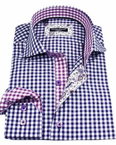 Men's luxury plaid shirts - Sheraton Vichy Blue | UrUNIQUE.com