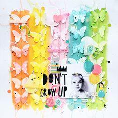"""Skrapowisko: LO """"Nie dorastaj"""" / LO """"Don't grow up"""" Recipe Scrapbook, Kids Scrapbook, Scrapbook Paper Crafts, Scrapbook Sketches, Scrapbook Page Layouts, Scrapbook Pages, Photo Layouts, Bridal Shower Scrapbook, Scrapbook Background"""
