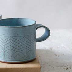 Blue Ceramic mugs Light blue coffee cups Modern tea Cups