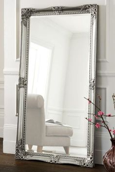 Buy Charlotte Pewter Floor Mirror from the Next UK online shop