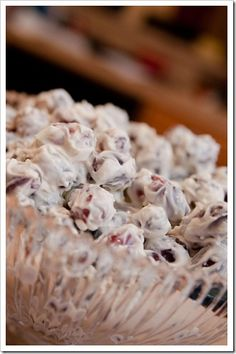 "COATED GRAPE SALAD ~ one of the best ""salads"" you'll ever eat"