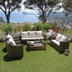 Salon de jardin Sesimbra Ardoise - 5 places