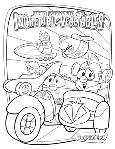 free veggietales coloring page