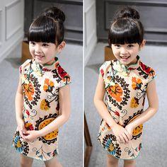 Goedkope 2017 Zomer Baby Meisje Jurk 2 7 Jaar Kinderkleding Kids Chinese Stijl Kleding Voor Meisjes Volgende Vestido Vest Meisjes jurk, koop Kwaliteit jurken rechtstreeks van Leveranciers van China: