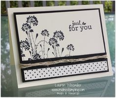 Stampin'Up! Serene Silhouettes, Modern Medley dsp, hemp twine www.midmostamping.com