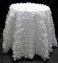 Attirant Ruffled Tablecloth, Round Tablecloth, Table