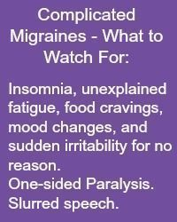 Migraines are recognized as a worldwide debilitating problem. Click here to know what complicated migraine symptoms look like and what you can do about them. -- Find out more at the image link. #SleepRemediesTips #migrainefacts