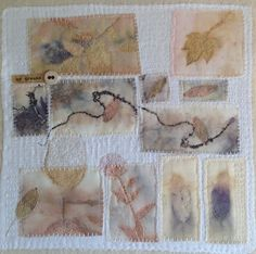Collage, Eco printed and hand stitched by Marilyn Stephens.