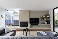 Enviro Gas Fireplace by Heatmaster featured in this stunning living area. @HeatmasterAus