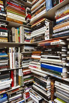 Karl Lagerfeld's bookshelf