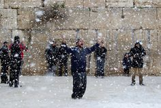 Thinking about our Family and Friends in Israel giving thanks for the snow!