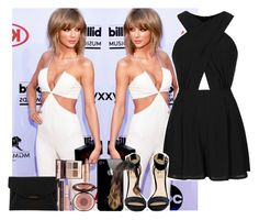 """""""BBMA's with bestie Taylor"""" by cortney-hudson ❤ liked on Polyvore featuring Topshop, Rihanna For River Island, Givenchy and Charlotte Tilbury"""
