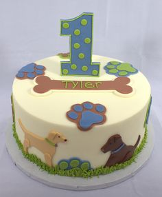 Puppy Dog Birthday Cake - oh my gosh! This is beyond cute! A little excessive for a dog lol, but still very cute!