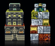 2011 Penhaligon's Christmas Gift Collection designed by jkr. Theme of 'Hidden London.' Great design without relying on Christmas clichés.