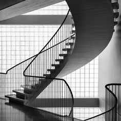 Created interest through odd shapes, an example being this fairly simple staircase showcasing curves as the focal point.