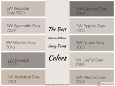 Die besten Sherwin Williams Grey Paint-Farben - Home: Living color 2019 Greige Paint Colors, Bedroom Paint Colors, Exterior Paint Colors, Exterior House Colors, Paint Colors For Home, Living Room Colors, Wall Painting Colors, Warm Gray Paint Colors, Paint Colors For Hallway