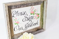 Want to use my wooden frame for the guestbook table