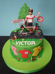 Bicycle Cake, Bike Cakes, Mountain Bike Cake, 50th Birthday Cakes For Men, Puppy Cake, Retirement Cakes, Sport Cakes, Cake Craft, Halloween Cakes