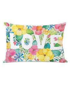 Another great find on #zulily! Floral 'Love' Throw Pillow #zulilyfinds