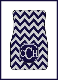 Car Mats Monogrammed Gift Ideas Car Accessories by ChicMonogram, $32.95
