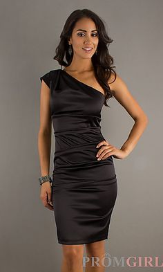 Short One Shoulder Dress by Sally Fashions at PromGirl.com
