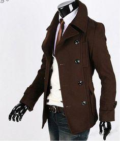 dark brown men's dress pants | ... -men-s-clothing-leisure-coat-jacket-Winter-fall-coat-Black-coffee.jpg