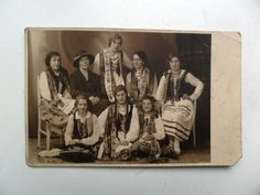People Women in National Costume Dress Photo Postcard Latvia Riga Riga, Photo Postcards, Costume Dress, 1920s, Culture, Costumes, History, People, Image
