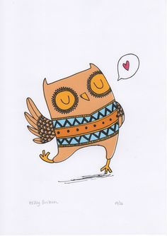 Holly Swain owl Illustration