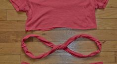 """DIY """"No-Sew Headbands"""" Need: one t-shirt, scissors and a tape measure or ruler. If you want to make sure your cuts are extra straight, a marker can be used to help!"""