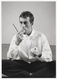 David Wojnarowicz Eating an Apple by Peter Hujar