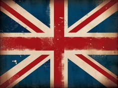 Union Jack British Flag graphic art on canvas by geministudio