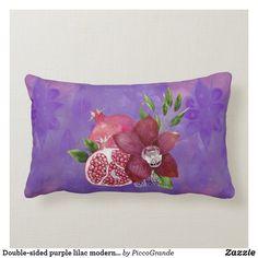 Double-sided purple lilac modern batik style fruit lumbar pillow Purple Accents, Purple Lilac, Pink, Soft Pillows, Accent Pillows, Throw Pillows, Batik Pattern, Pillows Online, Home Decor Online