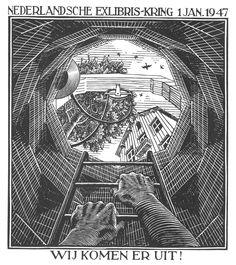 • M.C. Escher - Ex Libri, capodanno 1947 (1947). Palazzo Reale, Milano.