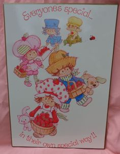 Strawberry Shortcake Numbers 1-10 Mural #22-380 American Greetings