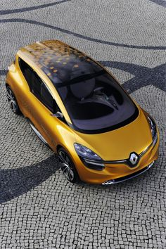 Playful and ecological. Double doors which, unobstructed by any central pillar, and a play space in the back, make of #R-Space a simple and warm MPV. #Renault #design #conceptcar
