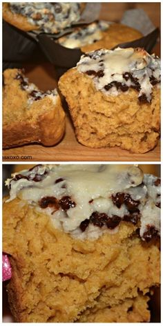 Pumpkin Muffins With Cheesecake Filling