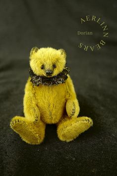 "Dorian Miniature Mini 3"" Artist Teddy Bear from by aerlinnbears"